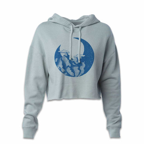 Moon Mountain Cropped Hoody