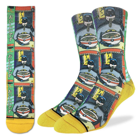 Batman and Ramen Active Fit Socks - Men's Sizing