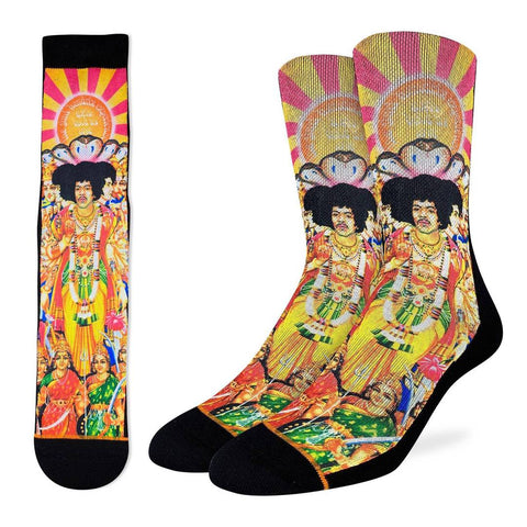Jimi Hendrix Active Fit Socks - Men's Sizes