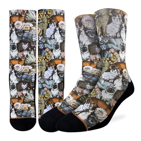 Social Cats Active Fit Socks - Men's Sizes