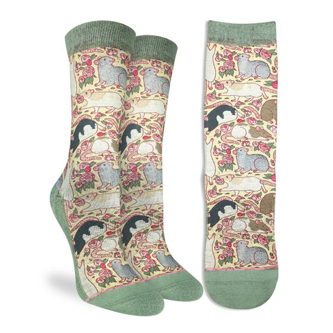 Floral Rats Active Fit Socks - Women's Sizing