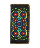 Moroccan Pattern Embroidered Large Flat Wallet - Assorted Colours