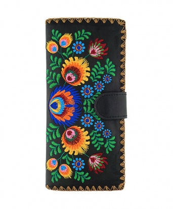Polish Flora Embroidered Large Wallet