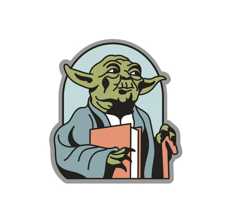 Read Yoda Enamel Pin