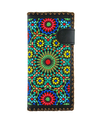 Moroccan Pattern Embroidered Wallet
