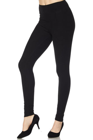 Black Leggings with Wide Waist Band - One Size & One Size Plus