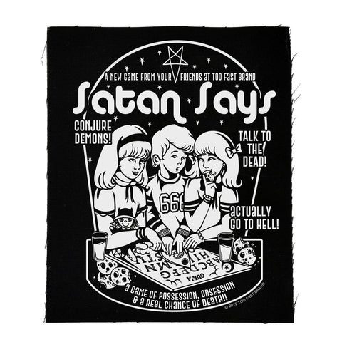 """Satan Says"" canvas patch"