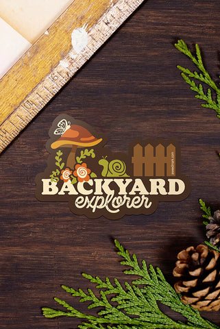 Backyard Explorer vinyl sticker