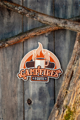 Campfires & Coffee embroidered patch
