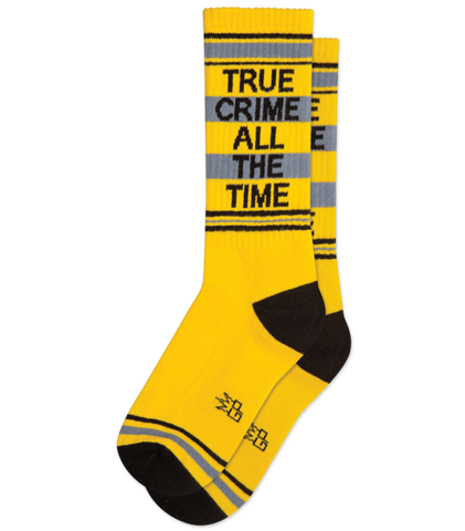 True Crime All The Time Gym Socks