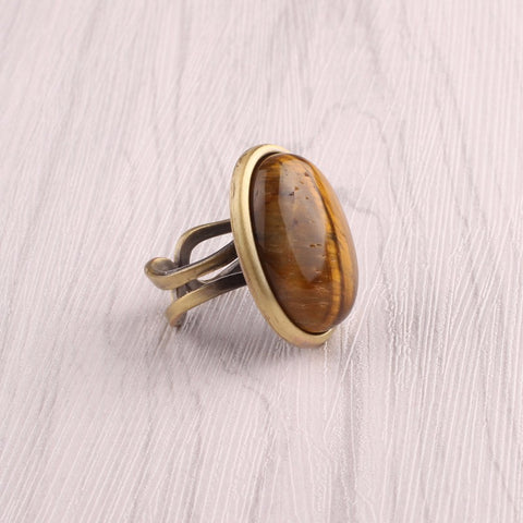 Natural Stone Resizable Ring