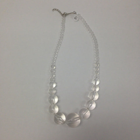 Clear Bauble Necklace