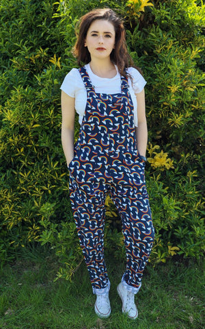 Over the Rainbow Twill Oversized Overalls