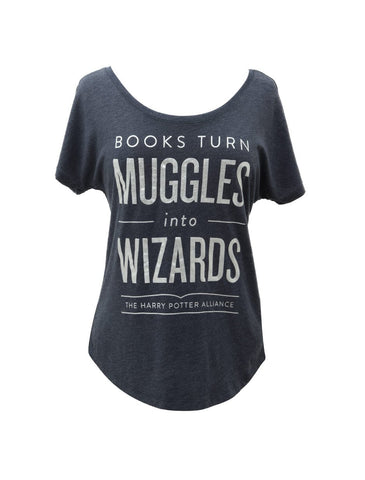 Books Turn Muggles Into Wizards Dolman Tee