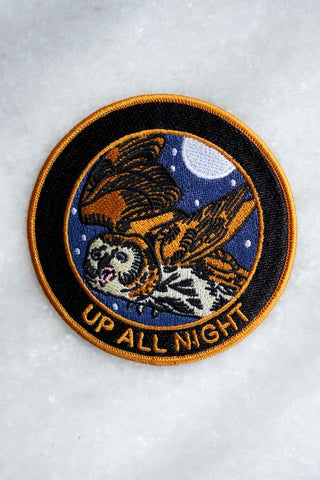 Up All Night Iron On Patch