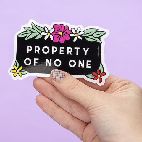 Property of No One Sticker