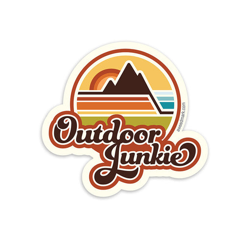 Outdoor Junkie Vinyl Sticker