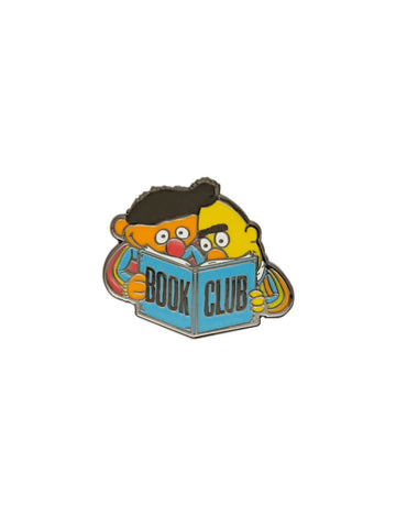 Ernie & Bert Book Club Enamel Pin