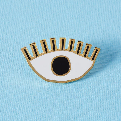 Golden Eye Enamel Pin