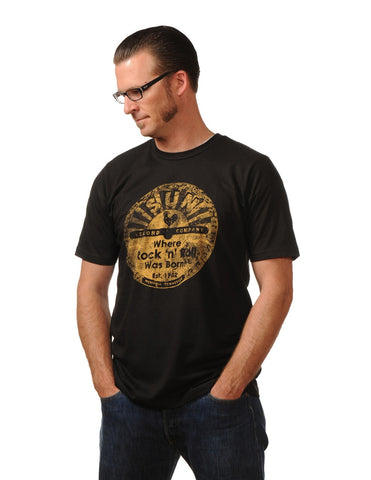 Sun Records Distressed Logo Tee