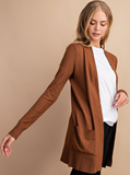 Open Front Mid-Length Cardigans - Assorted Colours