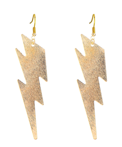 Large Lightening Bolt Earrings
