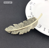Antique Finish Feather Hairclip