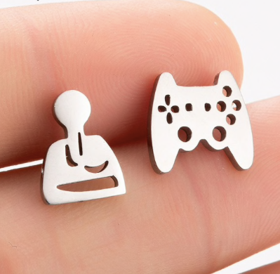 Mismatched Gamer Studs