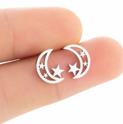 Moon & Star Hallow Studs