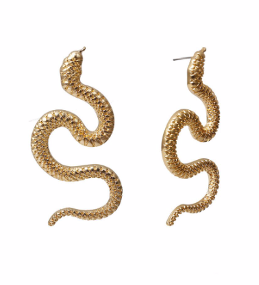 Large Snake Earrings