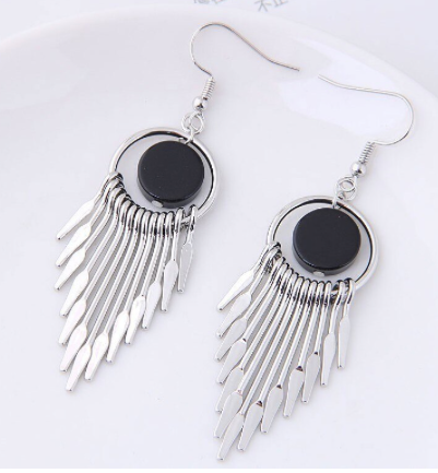 Metal Tassel Detail Earrings