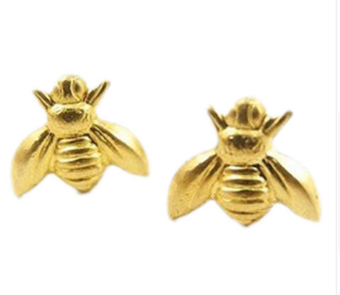 Realistic bee earrings