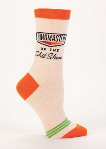 Ringmaster of the Shitshow Women's Crew Socks