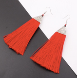 Large Tassel Earrings - Assorted Colours
