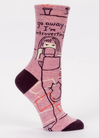 Go Away I'm Introverting Crew Socks