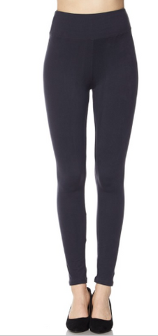 Charcoal Leggings with Wide Waist Band - One Size & One Size Plus