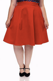 Charlotte Circle Skirt - Red