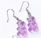 Gummy Bear Charm Earrings