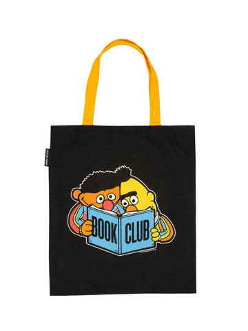 Ernie & Bert Book Club Canvas Tote