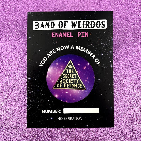 The Secret Society of Beyonce Enamel Pin