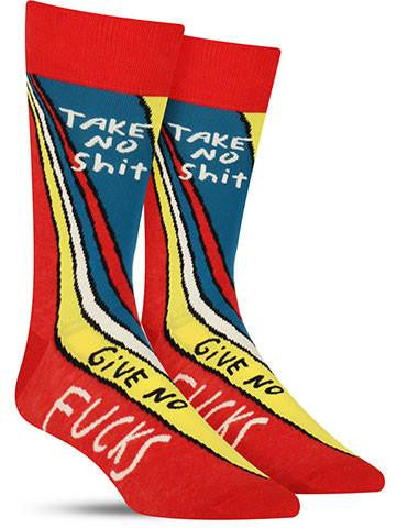 Take No Shit Socks - Mens