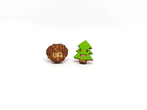 Wooden Bob and His Happy Little Tree Studs