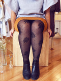 Sheer Foliage Polka Dot Tights