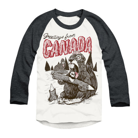 Greetings From Canada Unisex Baseball Tee