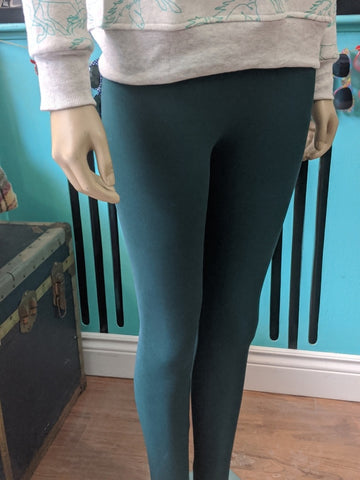 Forest Green High Waisted Leggings