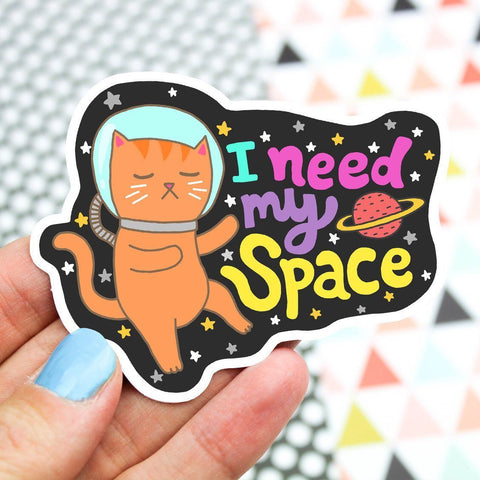 I Need My Space Vinyl Sticker
