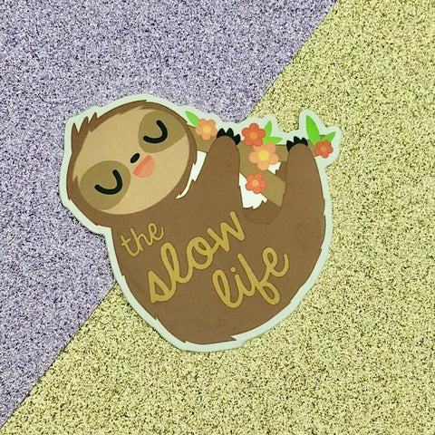 Slow Life Sloth Sticker