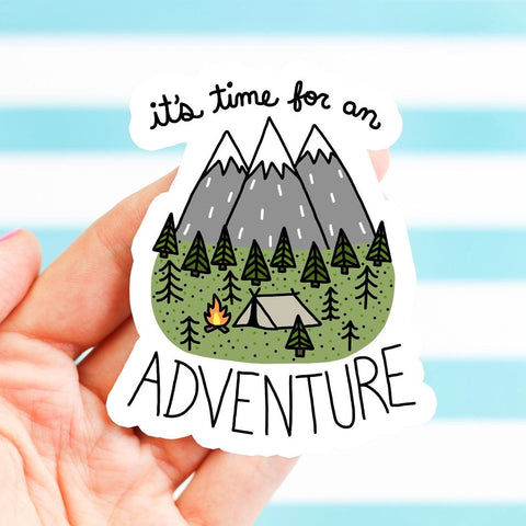 It's Time for an Adventure Sticker