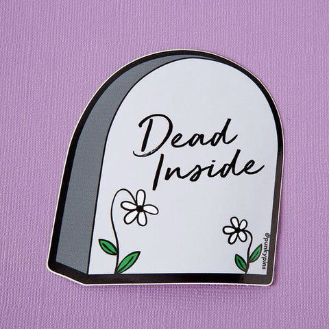 Dead Inside Tombstone Vinyl Sticker