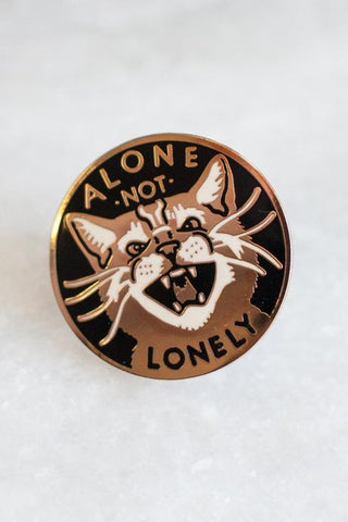 Alone Not Lonely Enamel Pin